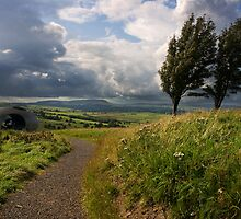 Lancashire Panopticon The Atom with Pendle Hill in the distance by Shaun Whiteman