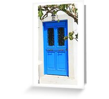 Cottage Door at Hydra Greeting Card