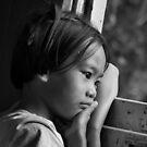 Kanchanaburi Melancholy girl by Shaun Whiteman