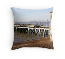 small wooden jetty Throw Pillow