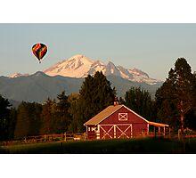 MT. BAKER & HOT AIR BALLOON FLYING Photographic Print