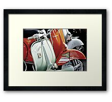 Vespa Mood Framed Print