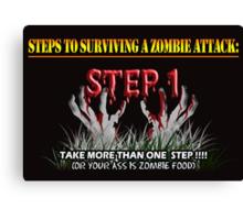 Zombie Survival Tips Canvas Print