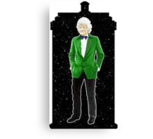 Third Doctor and The TARDIS Canvas Print