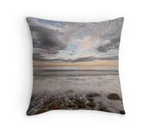 stone beach impressions Throw Pillow