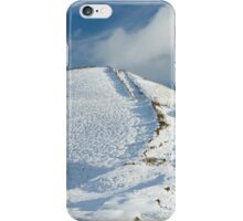 Winter Hikers in the Snow iPhone Case/Skin