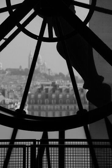 Clockwork over city by JessicaLuce