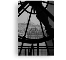 Clockwork over city Canvas Print