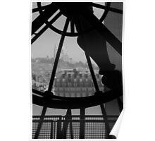 Clockwork over city Poster