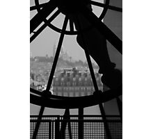 Clockwork over city Photographic Print