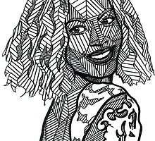 Geometric Beyonce by georgieartist