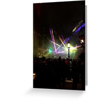 Laser in the New Year Greeting Card