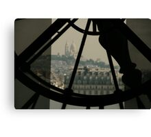 Clockwork over city 2  Canvas Print