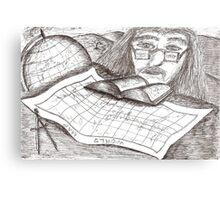 Cartographer dreaming Metal Print