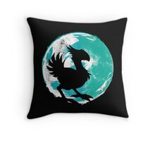 Wark at the Moon Throw Pillow