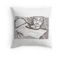 Cartographer dreaming Throw Pillow