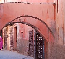 a medina in pink by Sanchita  Mukherjee