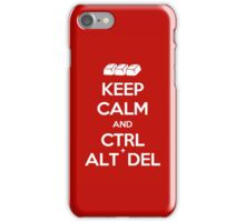Keep Calm - Ctrl + Alt + Del iPhone Case/Skin