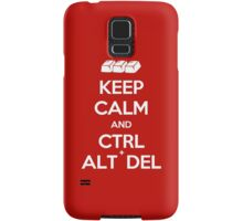 Keep Calm - Ctrl + Alt + Del Samsung Galaxy Case/Skin
