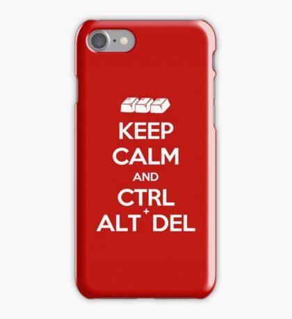 Keep Calm - Ctrl + Alt + Del iPhone Case/Skin