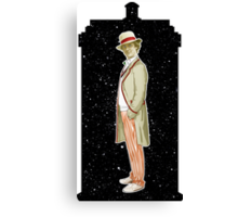 Fifth Doctor and The TARDIS Canvas Print