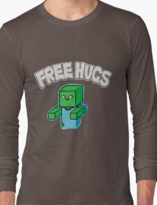 "Minecraft Zombie   ""Free Hugs"" Long Sleeve T-Shirt"