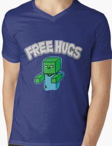 "Minecraft Zombie | ""Free Hugs"" Mens V-Neck T-Shirt"