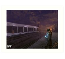 A morning for traveling Art Print