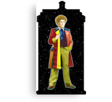 Sixth Doctor and The TARDIS Canvas Print