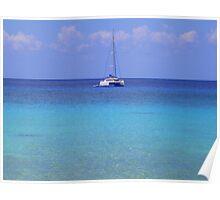 Catamaran in the Caribbean Poster