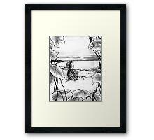 The Frozen Lake Framed Print