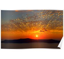 Sunset Over Paradise Poster