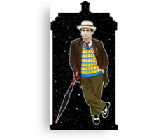 Seventh Doctor and The TARDIS Canvas Print