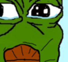 Smug pepe frog Sticker