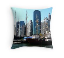 PIER 17 AT SOUTH STREET SEAPORT Throw Pillow