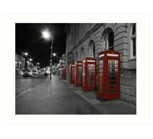 Red Phone Boxes Art Print