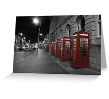 Red Phone Boxes Greeting Card