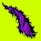 Tiger Stripe Rip Tear Purple  by Sookiesooker