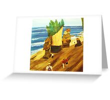 Walk on the ocean floor Greeting Card