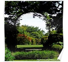 #506    Formal Garden Through An Arch Poster