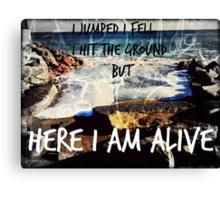 Yellowcard-Here I Am Alive Canvas Print