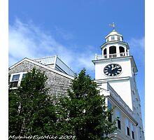 #507   Unitarian Church Clock Tower Of Nantucket Photographic Print