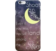 Motivational Les Brown Shoot for the Moon iPhone Case/Skin