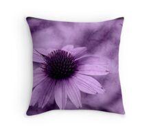 Purple Tye Dye Throw Pillow