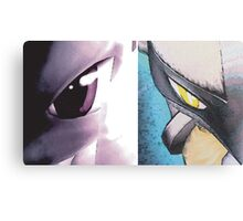 Mewtwo vs Lucario Canvas Print