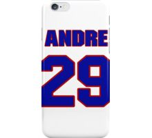 National football player Andre Hal jersey 29 iPhone Case/Skin