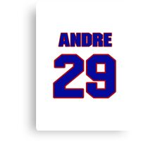 National football player Andre Hal jersey 29 Canvas Print