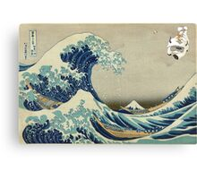 The Great Wave Off Katara Canvas Print