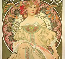 'Obraz' by Alphonse Mucha (Reproduction) by Roz Abellera Art Gallery