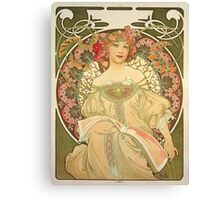 'Obraz' by Alphonse Mucha (Reproduction) Canvas Print